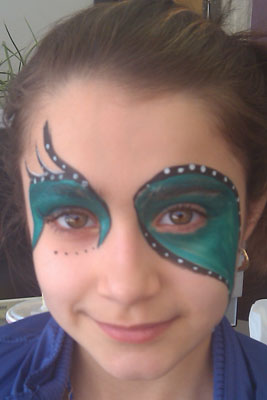 Mardi Gras Mask Face Painting